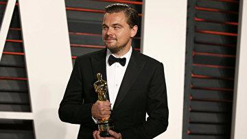 """Леонардо Ди Каприо на вечеринке Vanity Fair после вручения премии """"Оскар"""" за роль в фильме """"Выживший"""""""