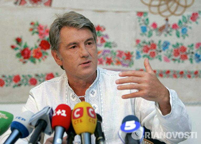 Виктор Ющенко провел пресс-конференцию в рамках в Полтавской области