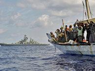 Судно в Аденском заливе, подозреваемое в пиратстве