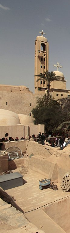 Монастырь преподобного Бишоя в Египте, где похоронен патриарх коптской церкви Шенуда III
