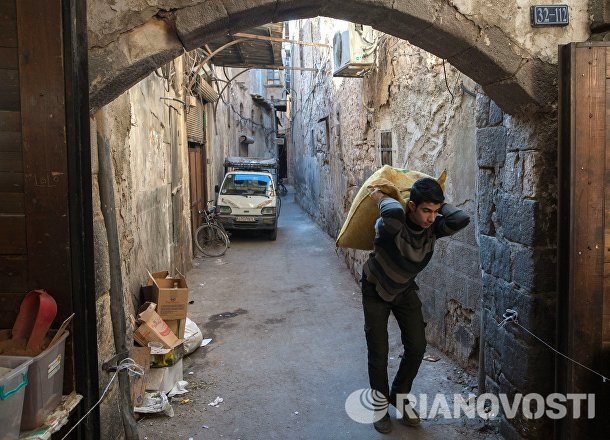 Рынок в Старом городе в Дамаске