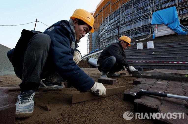 Строительство концертно-спортивного комплекса во Владивостоке