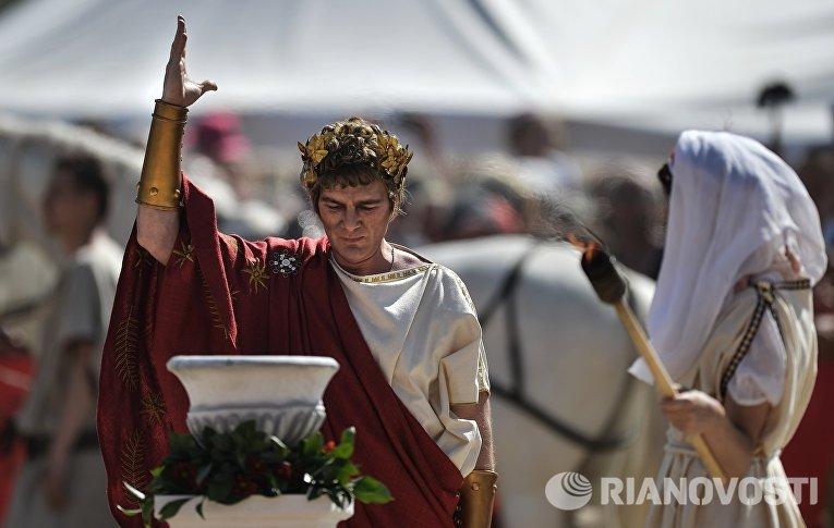 """V международный исторический фестиваль """"Времена и эпохи: Рим"""". День второй"""