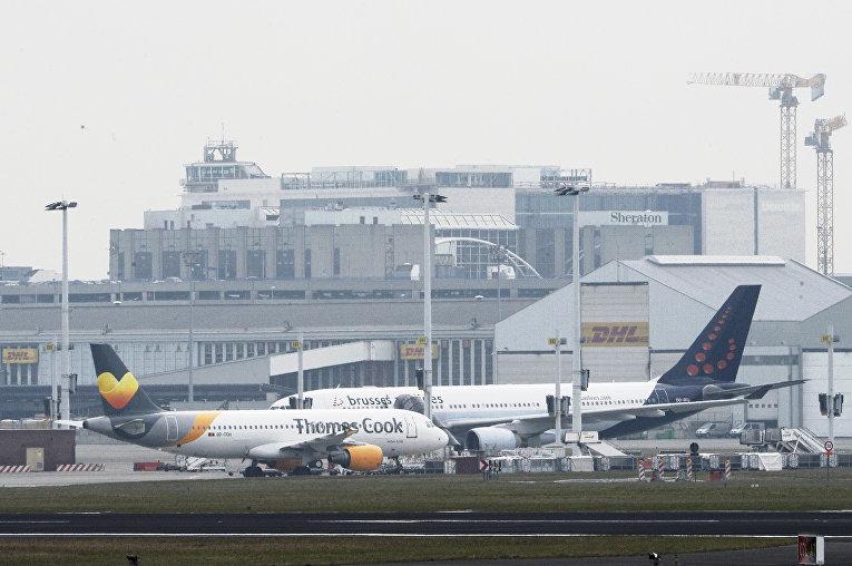 Аэропорт Брюсселя, в котором произошли взрывы