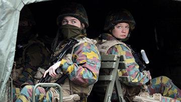 Военные на улицах Брюсселя