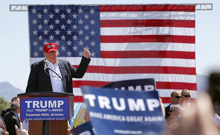 Кандидат в президенты США Дональд Трамп в Аризоне