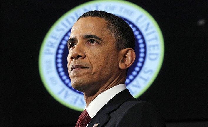 Барак Обама говорит о ситуации в Ливии в Национальном университете обороны в Вашингтоне