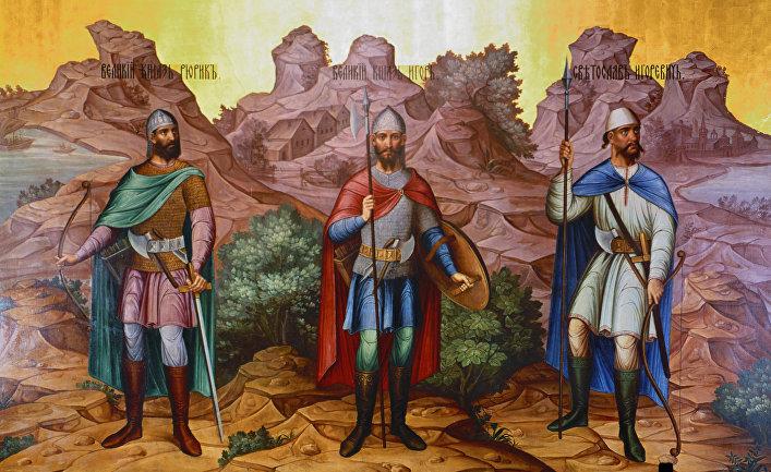 Рюрик и его братья Синеус и Трувор