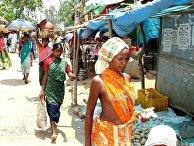 Базарный день в зоне проживания племени гондов в Индии, штат Чхаттисгарх