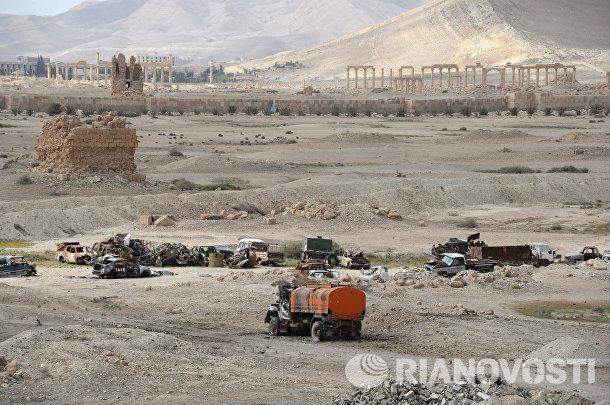 Разрушенная историческая часть Пальмиры