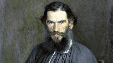 Портрет Л. Н. Толстого работы И. Крамского
