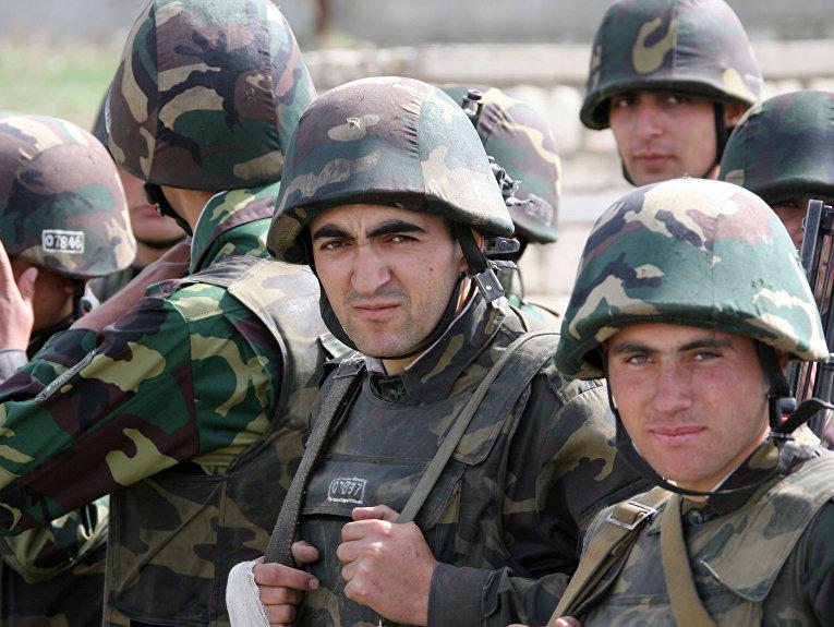 Солдаты армии Нагорного Карабаха