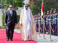 Президент Египта Абдель Фаттах Аль-Сиси и король Саудовской Аравии Салман в Каире