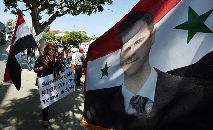 Сторонники президента Сирии Башара Асада