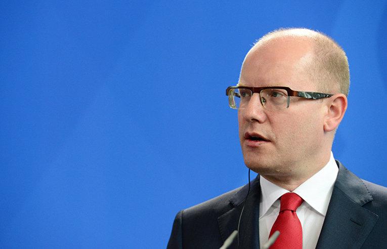Чешский премьер-министр Богуслав Соботка в Берлине