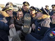 Встреча российских пилотов, вернувшихся из Сирии