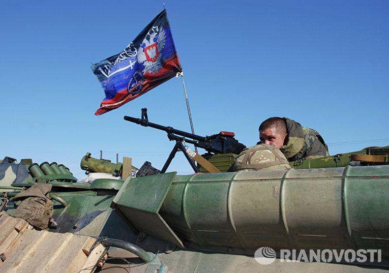 Ополченец Донецкой народной республики (ДНР)