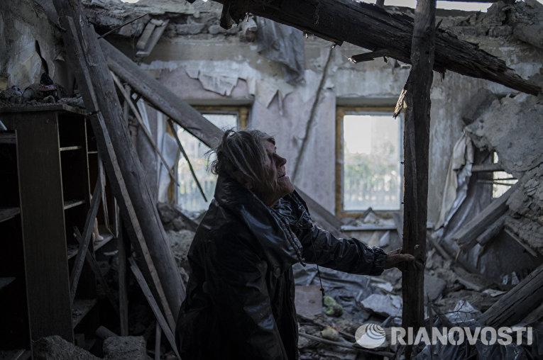 Жители поселка Старомихайловка Донецкой области