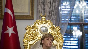 Канцлер Германии Ангела Меркель в Стамбуле
