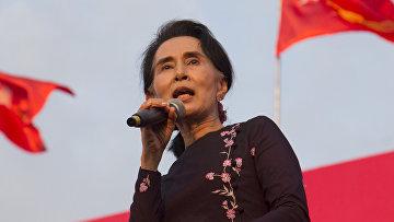 Бирманский и мьянманский политический деятель Аун Сан Су Чжи