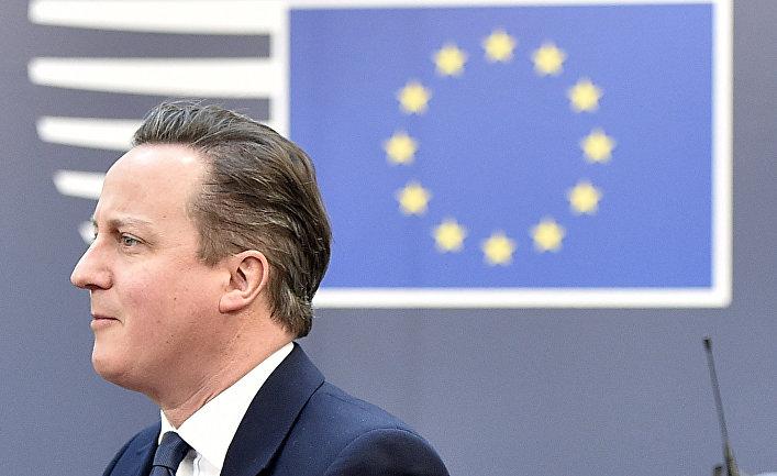 Британский премьер-министр Дэвид Кэмерон на саммите Евросоюза