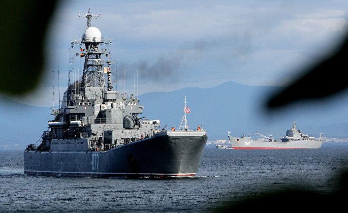Большие десантные корабли «Пересвет» и «Николай Вилков»