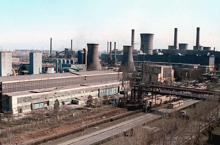 Румынский металлургический комбинат Sidex в городе Галац