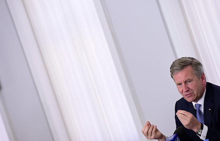 Бывший президент Германии Кристиан Вульф в Берлине