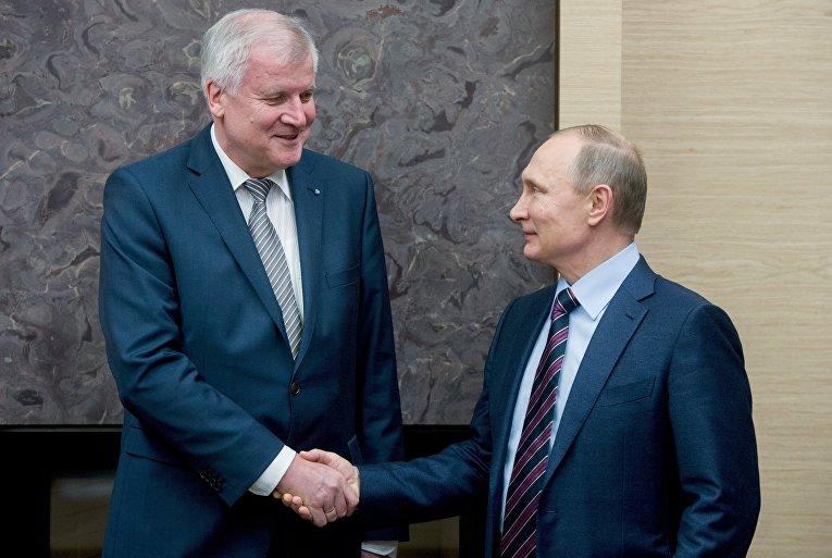 Президент РФ В. Путин встретился с премьер-министром Баварии Х. Зеехофером