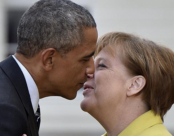 Канцлер Германии Ангела Меркель и президента США Барак Обама