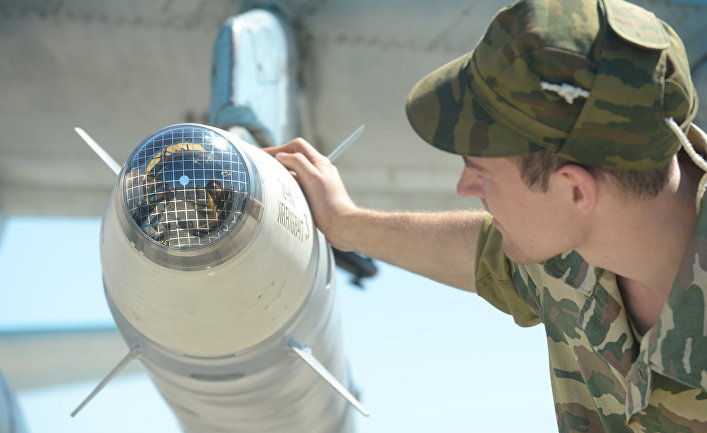 """Лазерная боевая часть ракеты класса """"Воздух-земля"""". Архивное фото."""