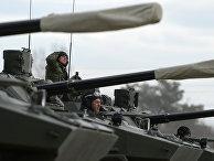 Боевая машина десанта БМД-4М на полигоне в Алабино