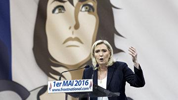 Лидер французской ультраправой партии «Национальный фронт» Марин Ле Пен