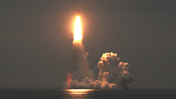 Испытания межконтинентальной баллистической ракеты «Булава»