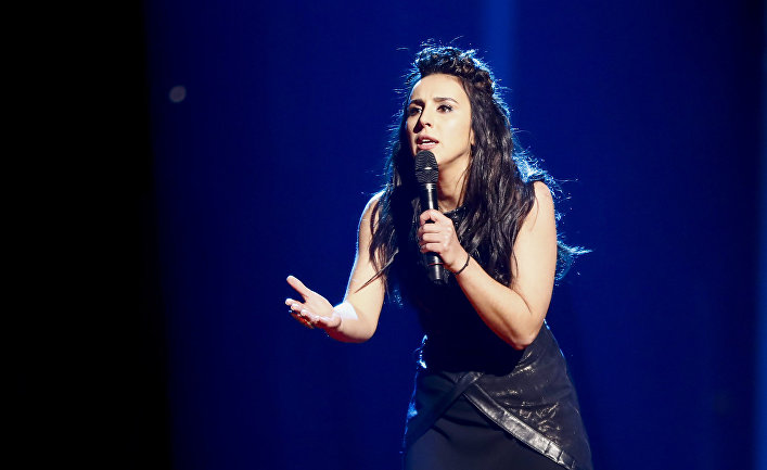 Украинская певица Джамала на конкурсе «Евровидение»