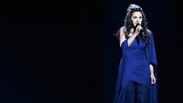 Украинская певица Джамала во время генеральной репетиции второго полуфинала 61-го конкурса песни «Евровидение 2016»