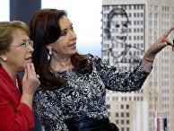 Президент Аргентины Кристина Киршнер и президент Чили Мишель Бачелет