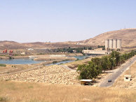 Дамба в городе Мосул в Ираке