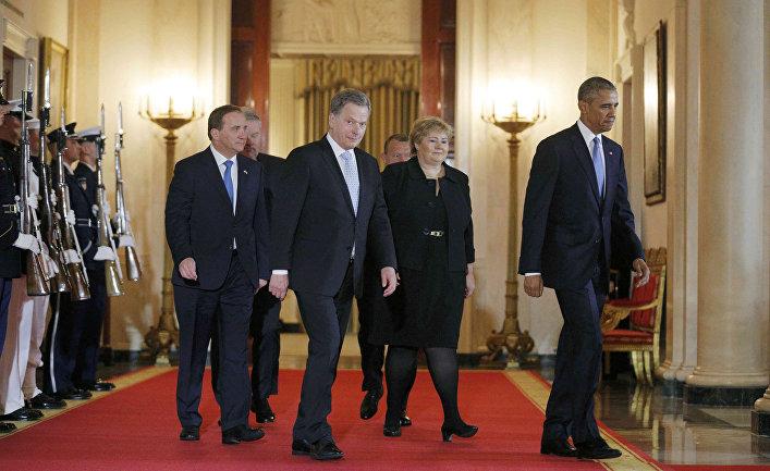 Во время американо-скандинавского саммита в Белом доме