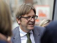 Экс-премьер Бельгии и глава фракции либералов в Европарламенте Ги Верхофстадт