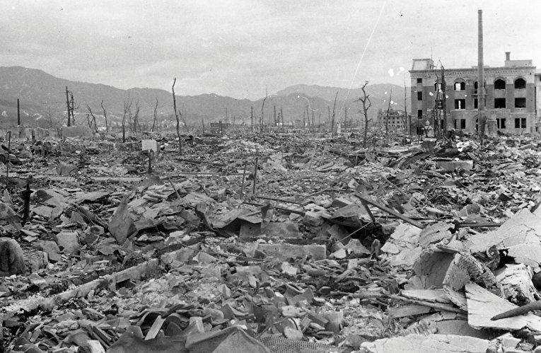 Хиросима после атомного удара