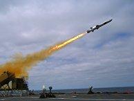 Запуск ракеты NSM с корабля USS Coronado