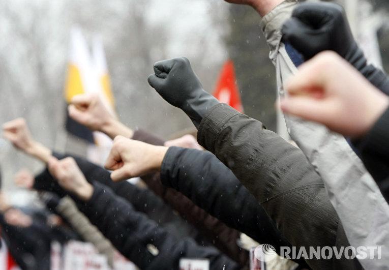 Акция ДПНИ и «Славянского союза» на Суворовской площади