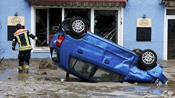 Последствия наводнения в Германии
