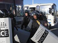 Сотрудники правоохранительных органов Казахстана