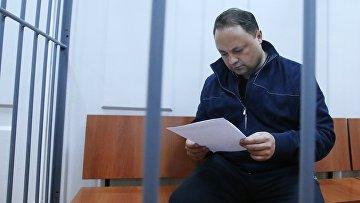 Мэр Владивостока Игорь Пушкарев в Басманном суде Москвы