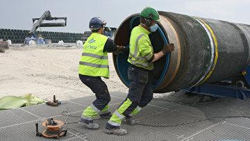 Строительство газопровода «Северный поток»