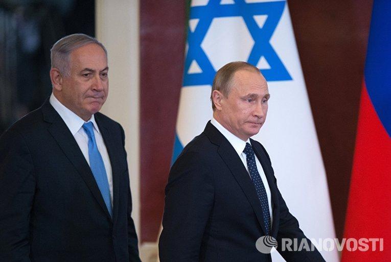 Встреча президента РФ Владимира Путина с премьер-министром Израиля Биньямином Нетаньяху