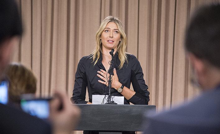 Мария Шарапова на пресс-конференции