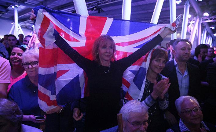 Сторонники Brexit во время акции в Лондоне